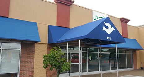 commercial-awning-blue